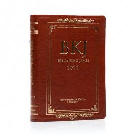 Biblia King James Fiel 1611 - Marrom -Concordancia e Pilcrow
