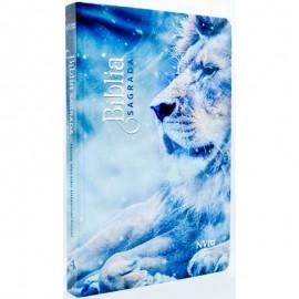 Bíblia NVI - Capa Dura - Leão Azul