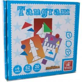 Brinquedo Pedagogico Madeira Tangram 62PÇ