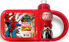 Lancheira c/ Garrafa Marvel Kit Lanche Plasduran