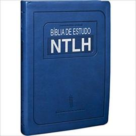 Biblia de Estudo NTLH Luxo Grande Azul