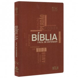 Biblia NTLH - Facil de Entender - Marrom - Capa Dura - Cruz