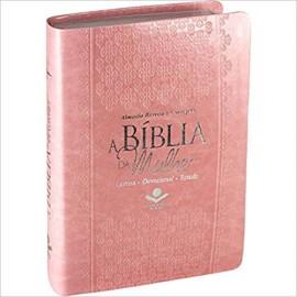 Bíblia da Mulher RC - Media - Luxo - Rosa Claro