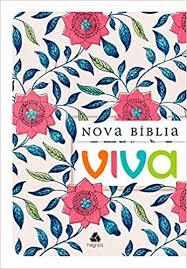 Nova Bíblia Viva Flor Rosa Brochura 14x21