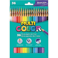 Lapis 36 Cores Multicolor Super