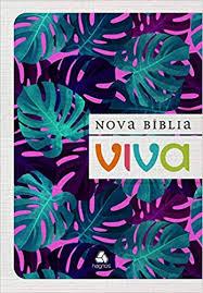 Nova Bíblia Viva Letra Grande Folhagem Roxa Brochura 16x23