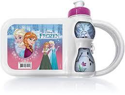 Lancheira c/ Garrafa Frozen Kit Lanche Plasduran
