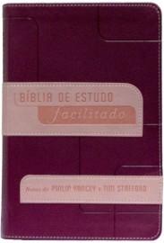 Bíblia de Estudo Facilitado Luxo Rosa