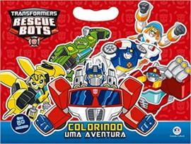 Transformers - Colorindo Uma Aventura - Com Adesivos