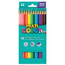 Lápis 12 Cores Multicolor Super