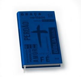 Bíblia NTLH - Fácil de Entender - Azul - Capa PU Words