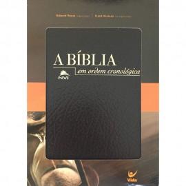 Bíblia em Ordem Cronológica NVI Capa Luxo Preta