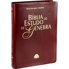 Bíblia de Estudo Genebra Capa Luxo Tamanho Grade Vinho