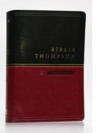 Bíblia de Estudo Thompson - Capa Luxo - Letra Grande Verde/Vinho
