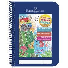 Caderno Criativo Faber Castell 96 FLS Azul