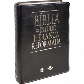Bíblia de Estudo Herança Reformada Capa Luxo Preta
