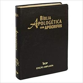 Bíblia de Estudo Apologética com Apócrifos Luxo Preta