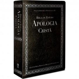Bíblia de Estudo Apologia Crista Luxo Preta