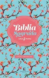 Biblia ACF Leitura Perfeita Capa Luxo Floral