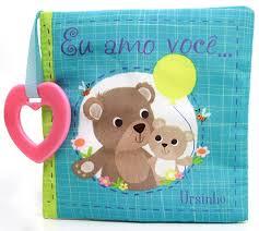 Eu Amo Você Ursinho - Livro de Pano