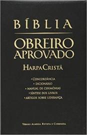 Bíblia de Estudo Obreiro Aprovado Media com Harpa